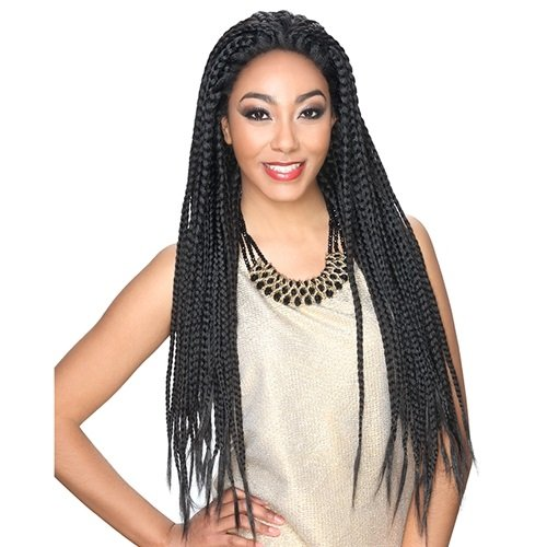 Zury Sis (Hand Braided) Afro Braid Lace Front Wig Lace Braid Box (OMB27/30)