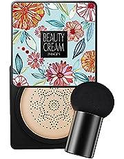 MISOYE Paddestoel Head Foundation, Air Cushion BB Cream BB Cream, Hydraterende Concealer, Heldere Make-up Base Langdurige Matte Concealer met Paddestoel Make-up Sponge, Gemakkelijk aan te brengen vertrouwde