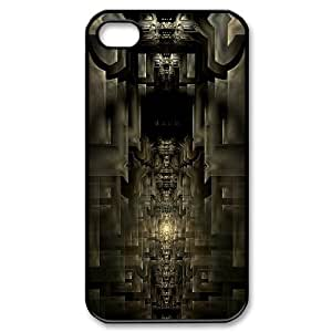 IPhone 4/4s Case Abstract 3D Space Hardshell for Girls, Iphone 4s Cases for Girls Hardshell for Girls [Black]
