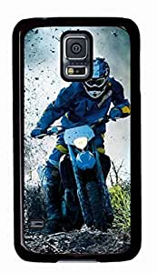 iCustomonline Dirt Motorcycle Games Designs Case for Samsung Galaxy S5 PC Material Black