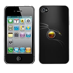 EJOY---Cubierta de la caja de protección la piel dura para el / iPhone 4 / 4S / --Dragón tribal Mínimo
