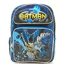 "Batman 16"" Large School Backpack Boy Backpack NEW!"