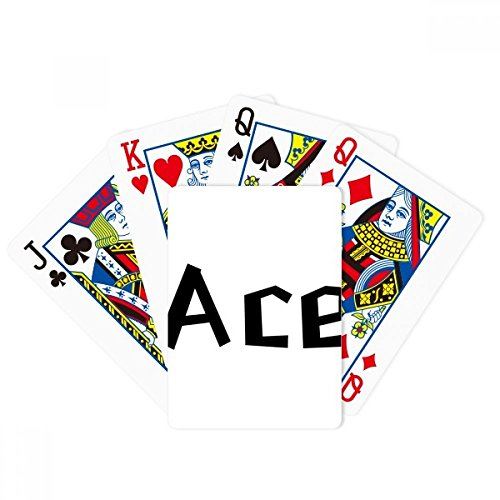 DIYthinker Quote Ace Poker Playing Card Tabletop Board Game Gift