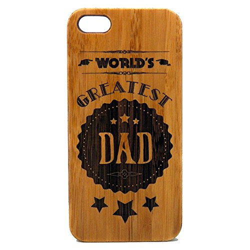 World's Greatest Dad Case for iPhone 6S or iPhone 6 | iMakeTheCase Eco-Friendly Bamboo Wood Cover | Dads Daddy Man Men Husband