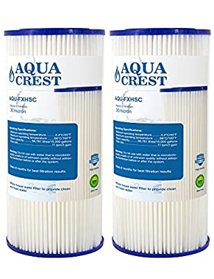 AQUA CREST FXHSC Replacement Water Filter, Compatible with GE FXHSC, Culligan R50-BBSA, Pentek R50-BB and Dupont WFHDC3001, American Plumber W50PEHD Whole House Filter (Package May Vary)(Pack of 2)
