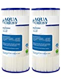 AQUACREST FXHSC Replacement for GE FXHSC, Culligan R50-BBSA, Pentek R50-BB and DuPont WFHDC3001, American Plumber W50PEHD Whole House Sediment Filter (Package May Vary)(Pack of 2)