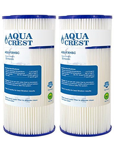 AQUACREST FXHSC Replacement for GE FXHSC, Culligan R50-BBSA, Pentek R50-BB and DuPont WFHDC3001, American Plumber W50PEHD Whole House Sediment Filter (Package May Vary)(Pack of 2) by AQUACREST