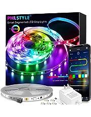 LED Lights for Bedroom Music Sync, App Controlled Bluetooth LED Lights Rope Lights, 16 Million Color Changing LED Strip Lights 44-Key Remote,Sensitive Built-in Mic, 5050 RGB LED Light Strip
