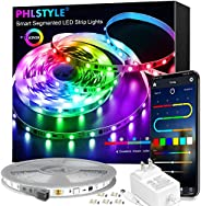 LED Lights for Bedroom Music Sync, App Controlled Bluetooth LED Lights Rope Lights, 16 Million Color Changing