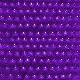 GBB 110V Mesh Net String Party Lights, 8 modes for Christmas & Halloween Wedding decoration, 96 LED, Purple