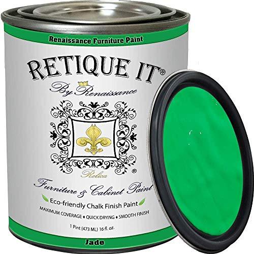 Retique It Chalk Furniture Paint by Renaissance DIY, 16 oz (Pint), 47 Jade