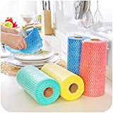 Eco Hometown Non Woven Fabric Roll- Kitchen Swipe Rolls (Multi-Purpose House Holding Sheets)- Pack 0F 2 (50 Dry Sheets per Pack)