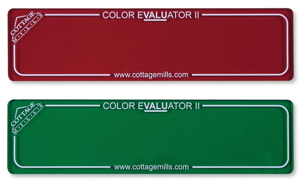 Finding Right Evaluator >> Color Evaluator Ii Red Green Viewing Filter Set Color Value Finder Gray Scale Contrast Evaluator Get The Right Color Mix For Your Project