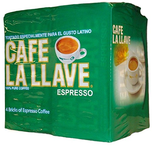 Café La Llave Espresso, Fine Grind, 100% Pure Coffee, Dark Roast, Rich and Aromatic, 4,  10-Ounce  Bricks Review