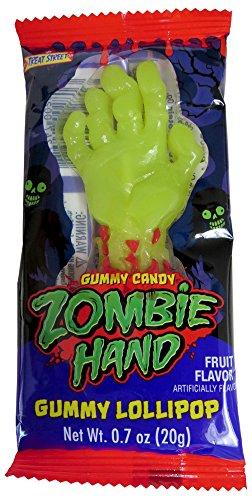 Treat Street Zombie Hand Gummy Lollipops (Pack of 12) ()