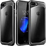 iPhone 7 Plus Case, [Slim Clear iPhone 7 Plus Case Black]  W/ Protective UV Scratch Resistant Transparent Back Cover &Soft Rubber Bumper for Apple iPhone 7 Plus Air Space Shockproof & Waterproof