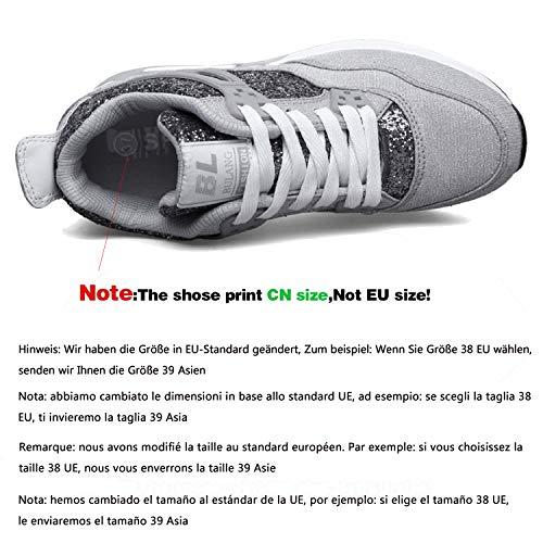 Da Zeppa Grigio 7 Fitness Cm Ginnastica Scarpe Interna Aonegold Sneakers  Basse Tacco Donna Chiaro XFq5A1TTwn 5197c2144a0