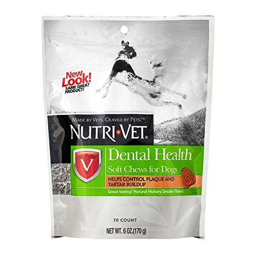 Toothpaste Chewable Brushless (Nutri-Vet Dental Health Soft Chews for Dogs, 6 Ounce)