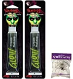 Potomac Banks Bundle: 3 Items - (Pack of 2) Glow in The Dark Cream Make-up and Free Spider Web