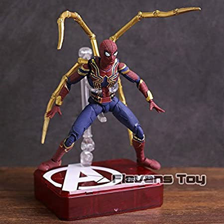 100% True Marvel Avengers Infinity War Iron Spider Spiderman Pvc Action Figure Collectible Model Toy Toys & Hobbies