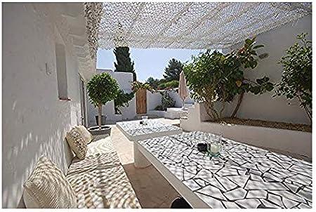 Red de camuflaje Blanco, 6m 8m 10m Red de camuflaje Pantalla de malla de malla de