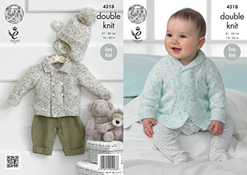 King Cole 4318 Knitting Pattern Baby Jacket and Hat to knit in King Cole Smarty DK by King Cole by King Cole