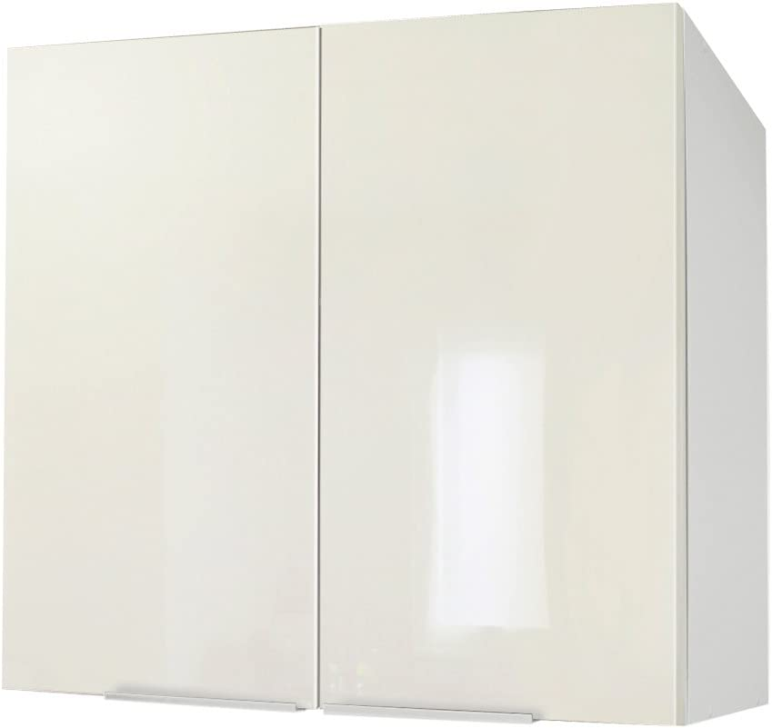 Berlioz Creations Tall Kitchen Cabinet With 2 Doors 80 Particle Boards 80 X 34 X 70 Cm Shiny Ivory Amazon Co Uk Kitchen Home