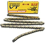 DID 520VT2-120 Gold Narrow X-Ring Chain with Connecting Link
