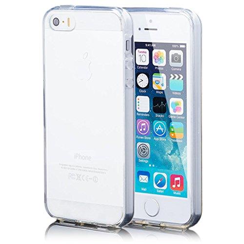 Apple iPhone SE / 5S / 5 | Cas iCues TPU Matt Purple | [Protecteur d'écran, y compris] protecteur de feuille transparente Temps clair de gel de silicone Housse étui de protection couverture Coque Hous