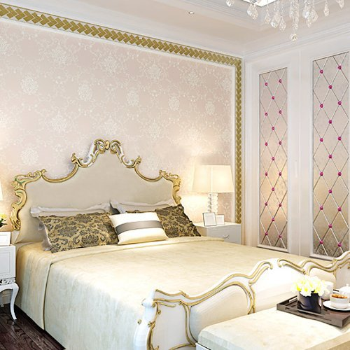 light pink wallpaper for bedrooms embossed luxury european style wallpaper painted 19055