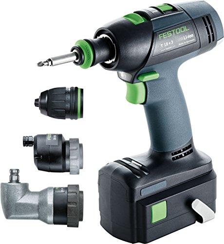 Festool T18+3 Li Set 564575 Cordless Drill by Festool