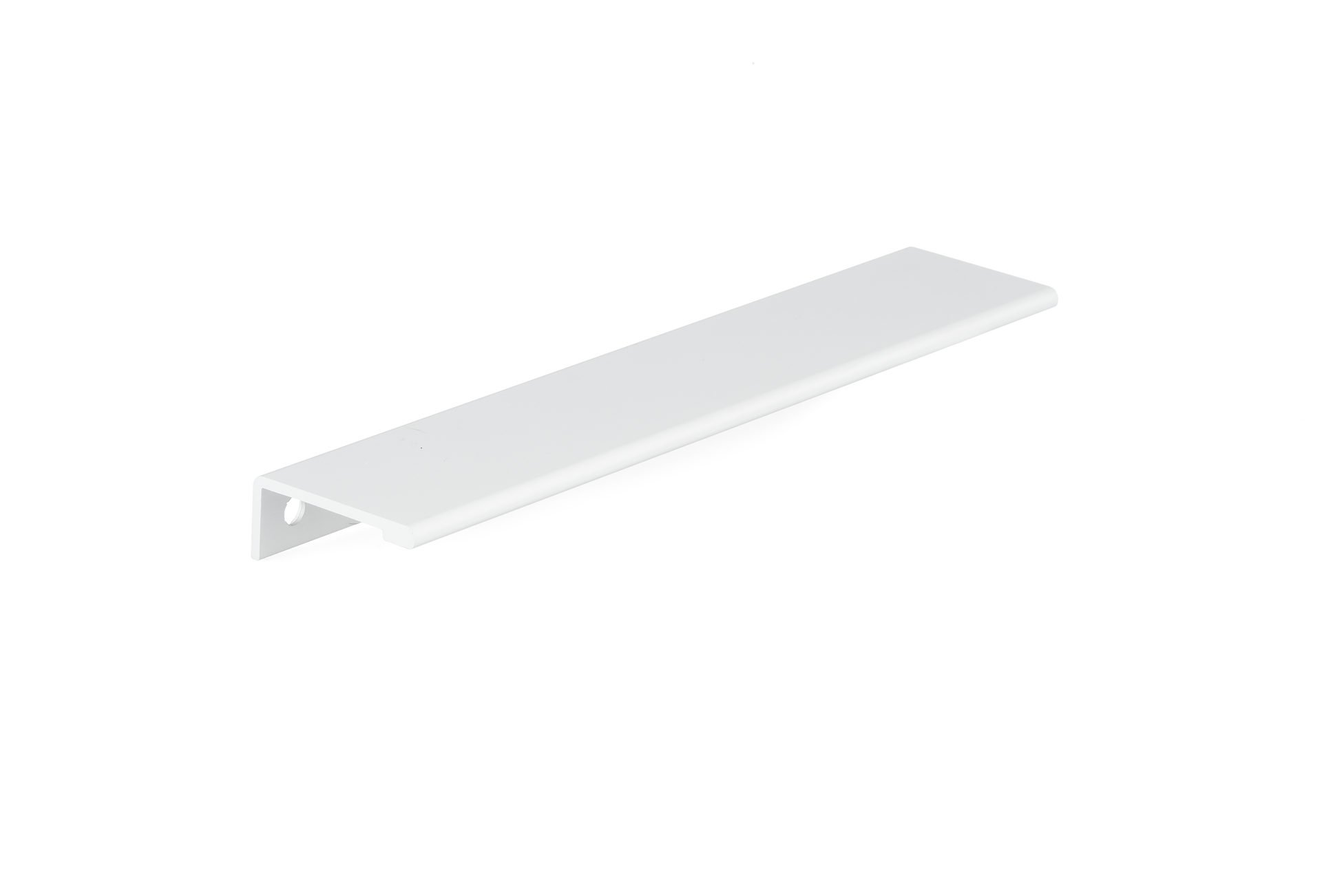 Richelieu Hardware - BP989819230 - Contemporary Aluminum Edge Pull - 9898-7 9/16 in (192 mm) - White Finish