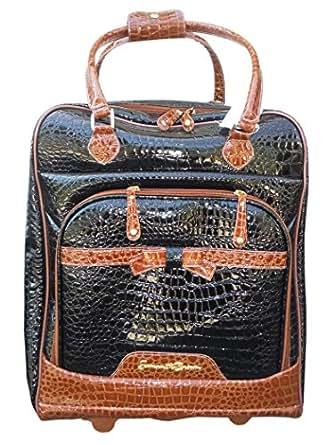Samantha Brown 2-piece Cabin Bag and Tote Set - BLACK/CAMEL