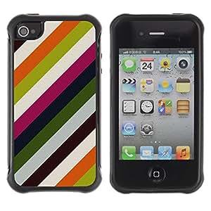 "Pulsar iFace Series Tpu silicona Carcasa Funda Case para Apple iPhone 4 / iPhone 4S , Líneas modernas Wallpaper Verde Blanco"""