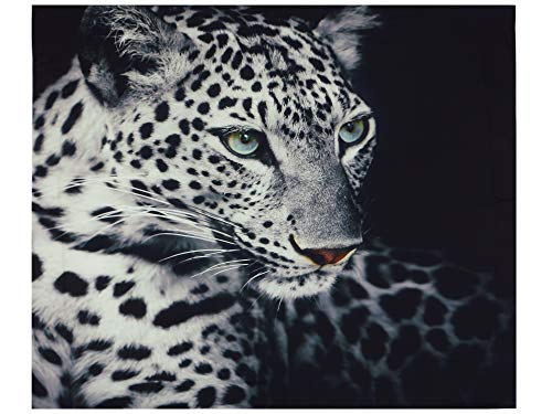 Tapestry | Leopard Animal Print | Contemporary Monochromatic Big Cat | Wall Hanging Blanket Wall Art Decor | Dark Print | 59 X 51 Inches