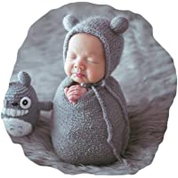 Vemonllas Newborn Baby Photography Props Boys Girls Outfits Hat With Long Ripple Wrap Set For Photography Shoot