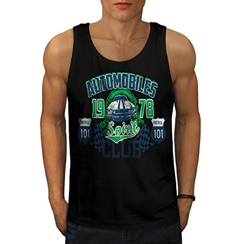 wellcoda Automobiles Club Race Car Men S-2XL Tank Top