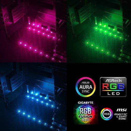 EZDIY Taurus 12V RGB LED Fan & Strip Control Card ASUS Aura SYNC/MSI Mystic  Light Sync/ASROCK Aura RGB/BIOSTAR Racing