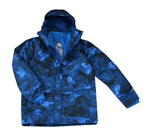 COLUMBIA youth boys arctic trip interchange 3in1 system Winter jacket OMNI HEAT (M 10/12) by Columbia