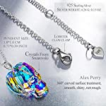 Alex Perry Necklace Gift for Her, Skull 925 Sterling Silver Pendant Necklace Elegant and Charming, Gift Box Packaging…