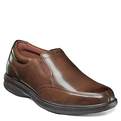 Nunn Bush Mens Myles ST. Moc Toe Slip-on Brown 11.5 M (D)