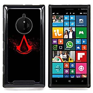 Ihec Tech Asesinos Crest;;;;;;;; / Funda Case back Cover guard / for Nokia Lumia 830