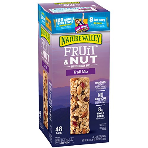 Nature Valley Fruit & Nut Chewy Trail Mix Granola Bars (48 ct.) (1 box) (Fruit & Nuts)