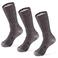MERIWOOL 3 Pairs Merino Wool Blend Socks - Choose Your Size