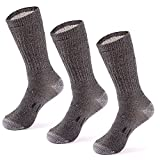 MERIWOOL Merino Wool Hiking Socks for Men and Women – 3 Pairs Midweight Cushioned – Warm n Breathable – Small/Gray