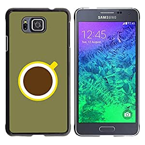 iBinBang / Funda Carcasa Cover Skin Case - Coffee Minimalist Olive Green Yellow - Samsung GALAXY ALPHA G850