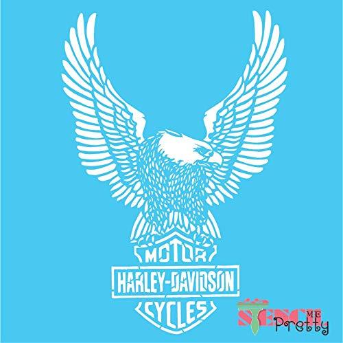 Stencil - Classic Harley Davidson Shield & Eagle for the DIY Biker - Massive (21.5