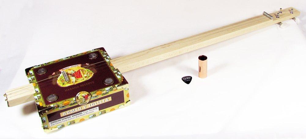 Basic Cigar Box Guitar Kit con instrucciones de montaje detalladas: Amazon.es: Instrumentos musicales
