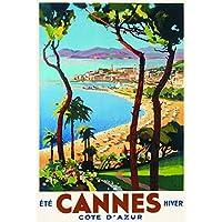 Poster/Cartel Francia Vintage Pub Retro 50x70cm Costa Riviera