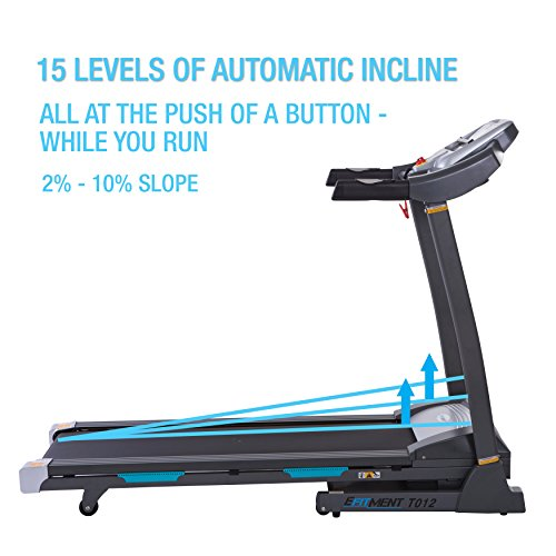 EFITMENT Auto Incline Bluetooth Motorized Treadmill w/Speakers & Folding for Running & Walking - T012